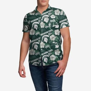 Michigan State Spartans City Style Button Up Shirt