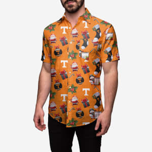 Tennessee Volunteers Christmas Explosion Button Up Shirt - L