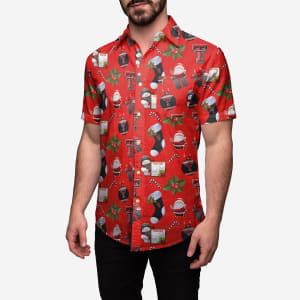 Texas Tech Red Raiders Christmas Explosion Button Up Shirt - 2XL