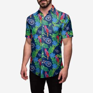Tennessee Titans Floral Button Up Shirt - XL