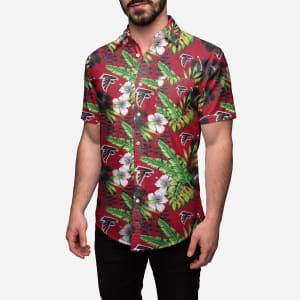 Atlanta Falcons Floral Button Up Shirt