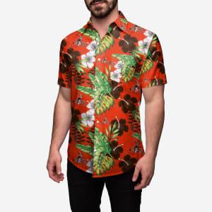 Cleveland Browns Floral Button Up Shirt - M