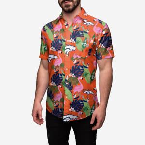 Denver Broncos Floral Button Up Shirt - M