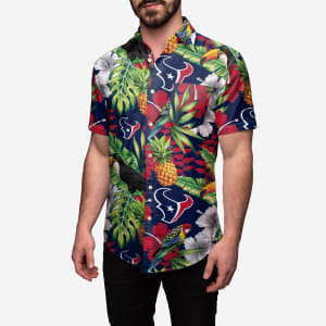 Houston Texans Floral Button Up Shirt - XL