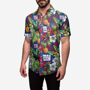 New York Giants Floral Button Up Shirt - S