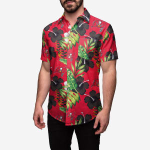 Tampa Bay Buccaneers Floral Button Up Shirt - 3XL