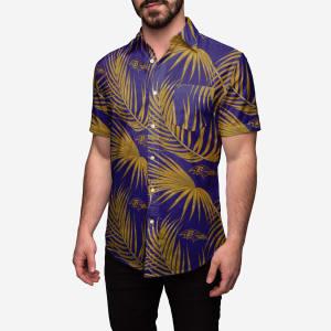 Baltimore Ravens Hawaiian Button Up Shirt