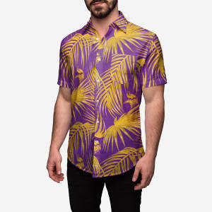 Minnesota Vikings Hawaiian Button Up Shirt - 2XL