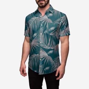 Philadelphia Eagles Hawaiian Button Up Shirt - L