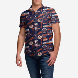 Chicago Bears City Style Button Up Shirt - XL