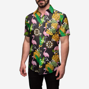 Boston Bruins Floral Button Up Shirt