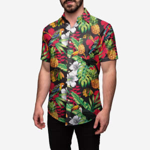 Chicago Blackhawks Floral Button Up Shirt - M