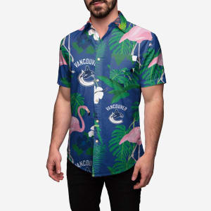 Vancouver Canucks Floral Button Up Shirt - 2XL