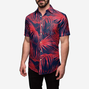 Washington Capitals Hawaiian Button Up Shirt - S