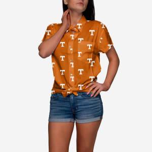 Tennessee Volunteers Logo Blast Womens Button Up Shirt - L