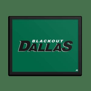 Blackout Dallas Framed poster