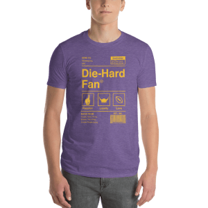 Minnesota Football Die-Hard Fan Short-Sleeve T-Shirt