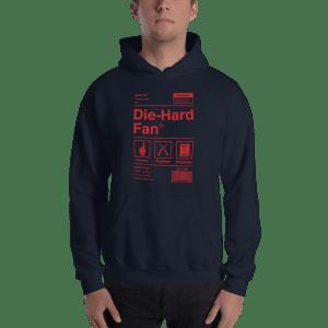New England Football Die-Hard Fan Hooded Sweatshirt