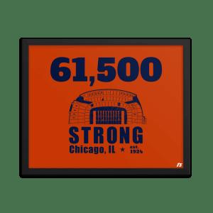 61,500 Strong Framed poster