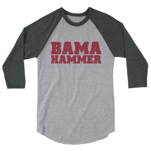 Bama Hammer Men's 3/4 sleeve raglan shirt