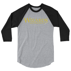 Wizards and What Not 3/4 sleeve raglan shirt
