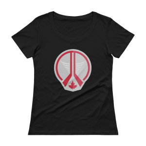 Women's Jets White Out Scoopneck T-Shirt
