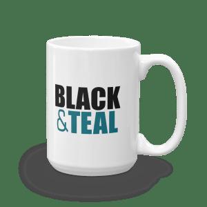 Black and Teal Mug
