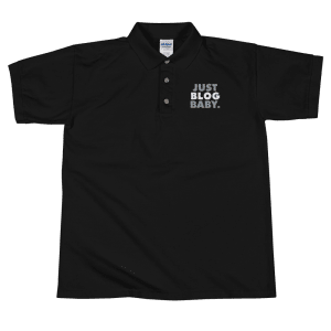 Just Blog Baby Embroidered Polo Shirt