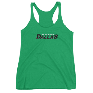 Women's Blackout Dallas Racerback Tank