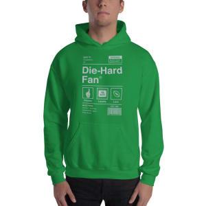 Philadelphia Football Die-Hard Fan Hooded Sweatshirt