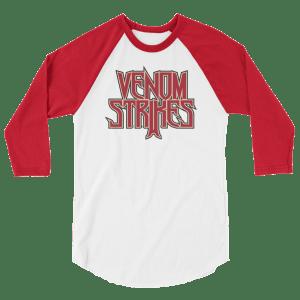 Venom Strikes 3/4 sleeve raglan shirt
