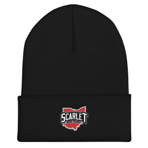 Scarlet and Game Cuffed Beanie