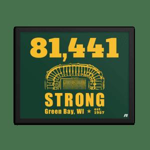 81,441 Strong Framed poster