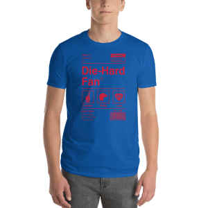 Kansas Die-Hard Fan Short-Sleeve T-Shirt