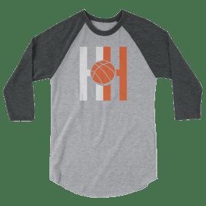 Hoops Habit 3/4 sleeve raglan shirt