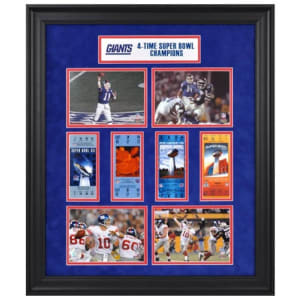 New York Giants Fanatics Authentic Framed Super Bowl Ticket Collage-Limited Edition of 1000