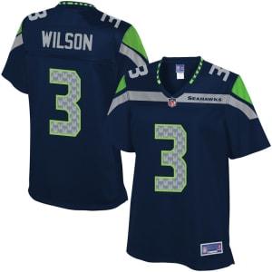 Pro Line Women's Seattle Seahawks Russell Wilson Team Color Jersey