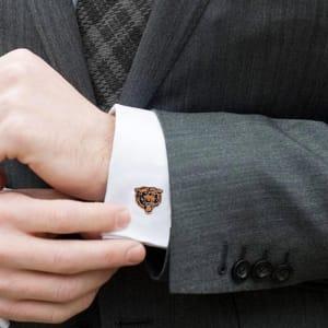 Chicago Bears Silver-Plated Team Logo Cufflinks