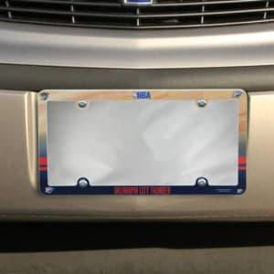 Oklahoma City Thunder Court Plastic License Plate Frame