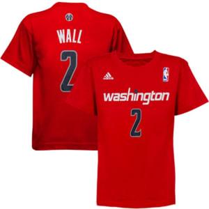 adidas John Wall Washington Wizards Preschool Name and Number T-Shirt - Red