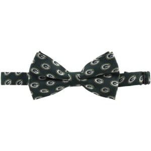 Green Bay Packers Repeated Logo Bow Tie - Green