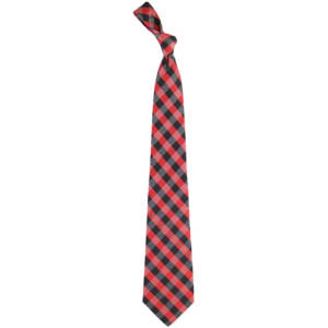 Arizona Cardinals Woven Checkered Tie - Cardinal/Black