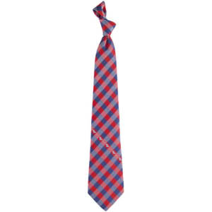 Mississippi Rebels Woven Checkered Tie - Cardinal/Navy Blue