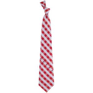 Ohio State Buckeyes Woven Checkered Tie - Scarlet/Gray