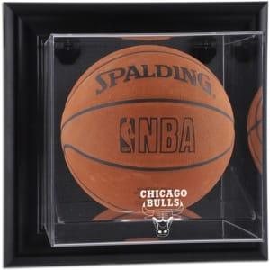 Chicago Bulls Fanatics Authentic Black Framed Wall-Mountable Team Logo Basketball Display Case