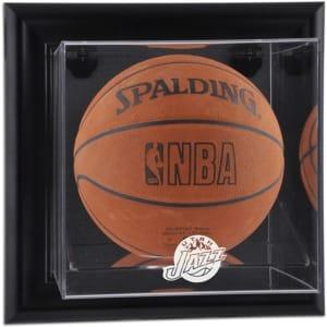 Utah Jazz Fanatics Authentic Black Framed Wall-Mounted Hardwood Classics 2004 - 2016 Team Logo Basketball Display Case