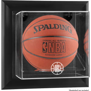 LA Clippers Fanatics Authentic Black Framed Wall-Mountable Team Logo Basketball Display Case