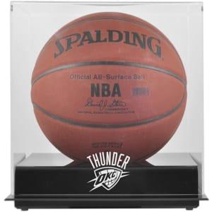 Oklahoma City Thunder Fanatics Authentic Black Base Team Logo Basketball Display Case with Mirrored Back