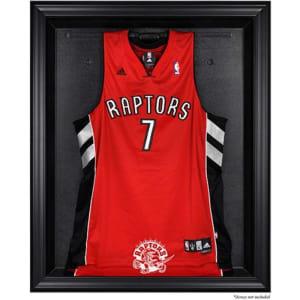 Toronto Raptors Fanatics Authentic Black Framed Hardwood Classics 1995 - 2015 Logo Jersey Display Case