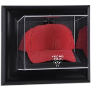 Chicago Bulls Fanatics Authentic Black Framed Wall-Mountable Cap Display Case